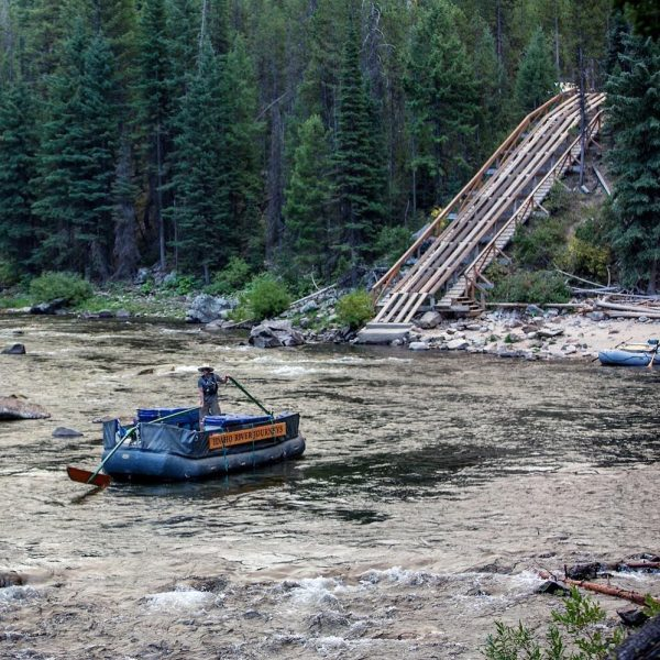 middle fork of the salmon sweep boat