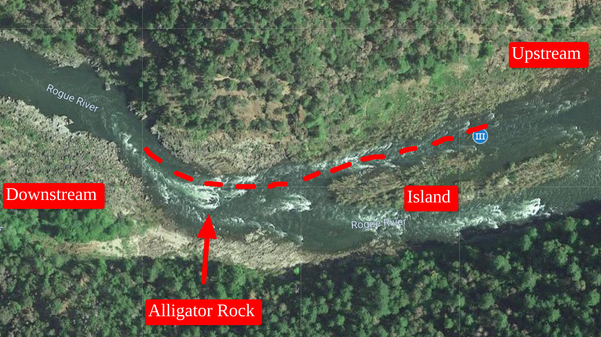 Wildcat rapid on the Rogue River, overview